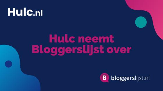 Persbericht Hulc neemt Bloggerslijst over